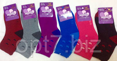"""Махровые носки для девочек 8-10, 10-12, 12-14 """"Полет"""""""