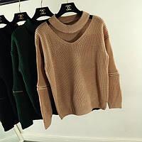 Женский модный свитер с чоппером (4 цвета)