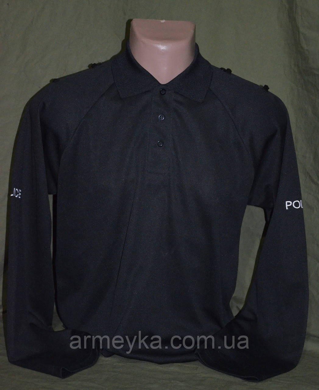 CoolMax реглан-поло полиции Великобритании ,  черная  оригинал