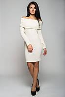 """Женское платье """"Вета"""", однотонное, 2 размера, белое"""
