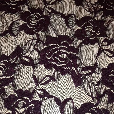 Гипюр фиолетовый стрейч  трикотаж , арт 40