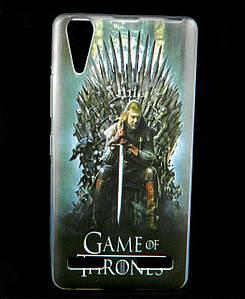 Чехол накладка для Lenovo A6000 силиконовый с рисунком, Game of Thrones Stark