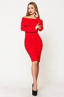 """Женское платье """"Вета"""", однотонное, 2 размера, красное"""