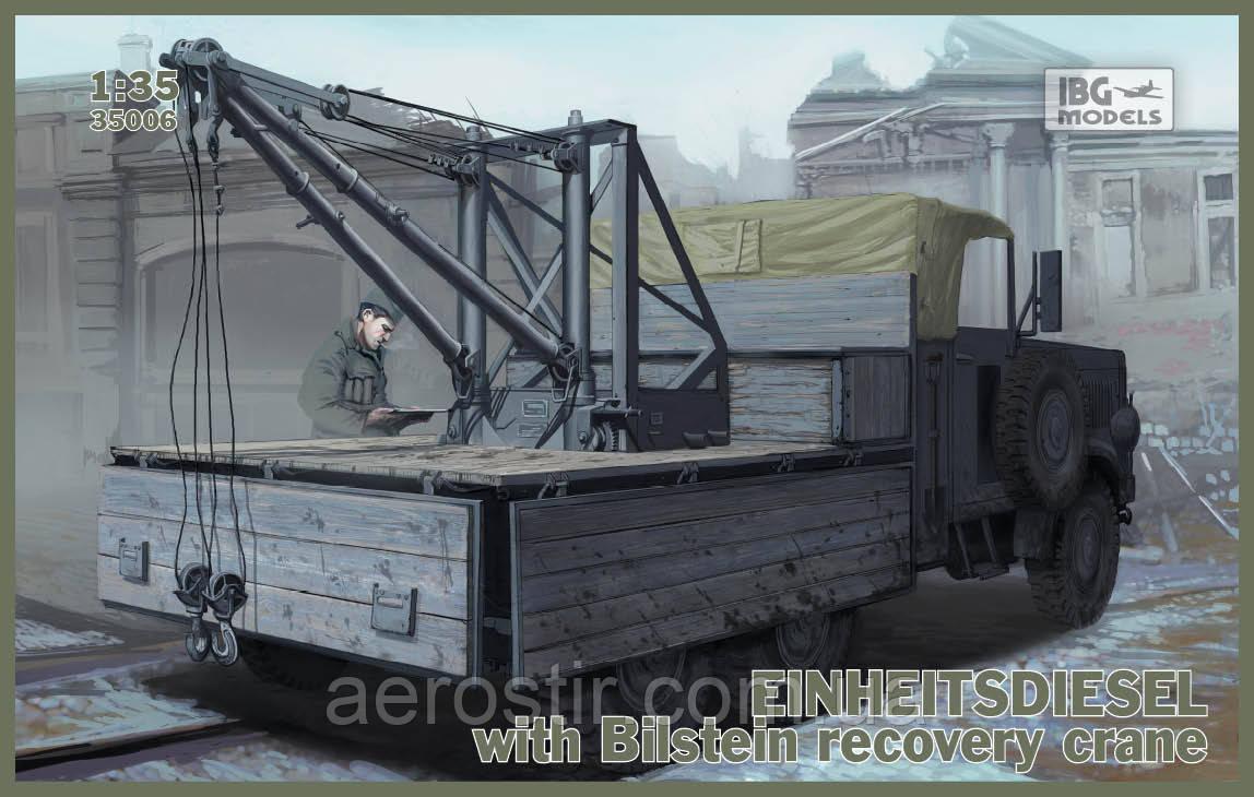 EINHEITSDIESEL with Bilstein recovery crane 1/35 IBG 35006