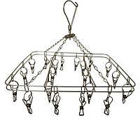 Вертушка с прищепками металлическая прямоугольная