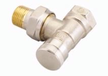 Клапан RLV Ду15 кутовий нікелевий;