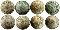 Монеты под серебро, китайские 40х40х2