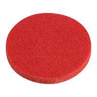 Спонж для умывания круглый красный, 1 шт.