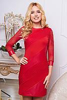 Трикотажное красное платье Рио 44, 46, 52 размеры