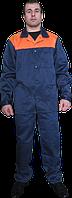 Костюм рабочий, ткань грета синий с оранжевой кокеткой