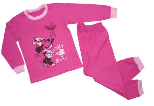 Пижама для девочки с начесом оптом Минни