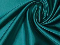 Ткань Атлас-стейч Бирюза зеленая