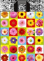 """Пакет с ручками петля """"Цветы в квадрате"""" (38х43+3)80мкм 25шт/упаковка"""