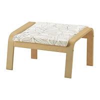"IKEA ""ПОЭНГ"" Табурет для ног, березовый шпон, Висланда черный/белый"