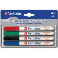 Маркер Verbatim MULTI MEDIA MARKER 4шт/PACK (BLACK/RED/BLUE/GREEN) (44120)