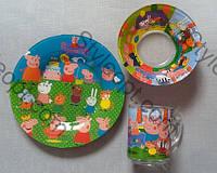 Детский набор посуды Свинка Пеппа, 3 предмета