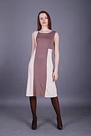Комбинированное трикотажное платье, модель Jada