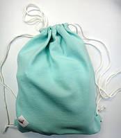 Мешочек для сменки и спортивной формы. Цвет мята., фото 1