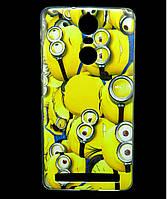 Чехол накладка для Lenovo Vibe K5 Note A7020 силиконовый с рисунком, Minions
