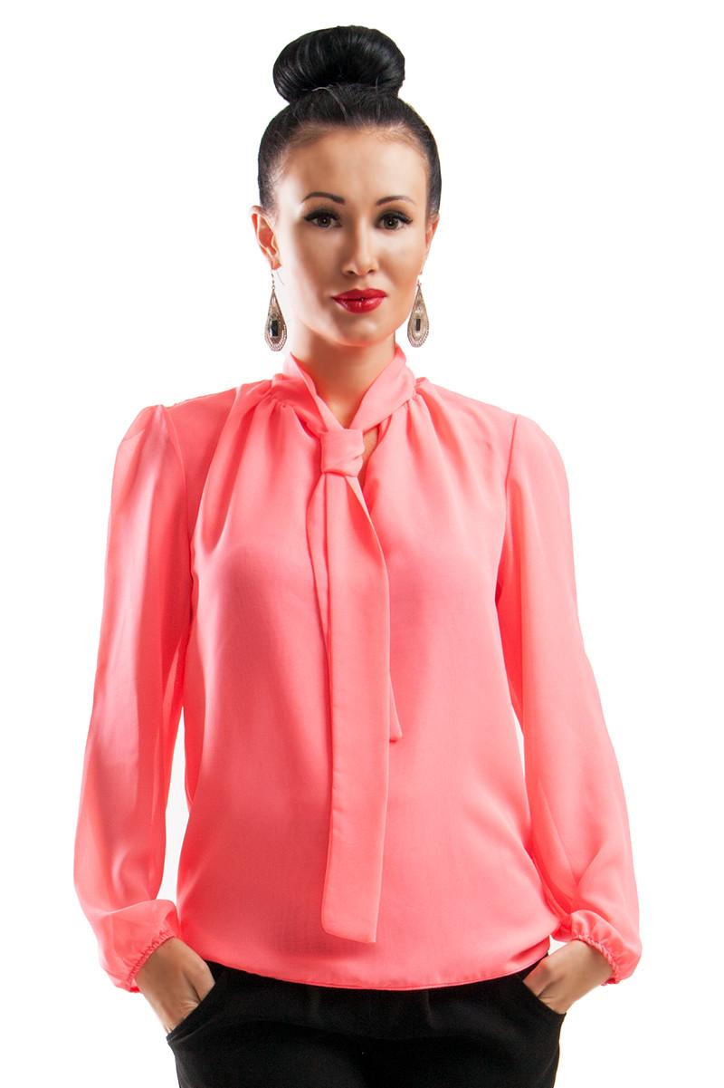 Женская шифоновая блуза Piano, персиковый