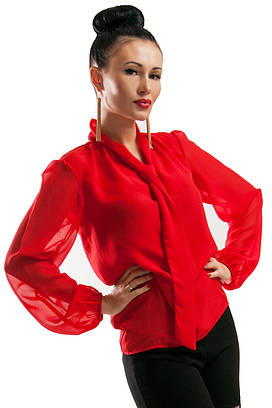Красная шифоновая блуза Piano