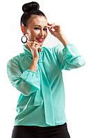 Женская ШИФОНОВАЯ блузка Piana ментол