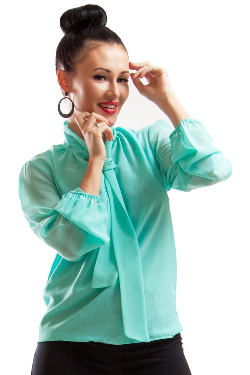 Женская блузка c длинным рукавом -Piano-  ментол