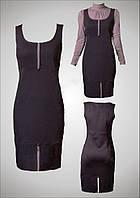 Трикотажное платье-сарафан для офиса модель Linneya