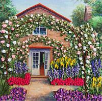 Набор для вышивания лентами Розовый сад   НЛ-3040
