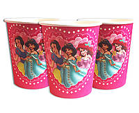 """Стаканчики одноразовые праздничные детские """" Три принцессы """" 10 шт./уп. Посуда одноразовая детская"""