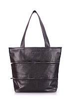 Кожаная сумка POOLPARTY CHOICE BLACK