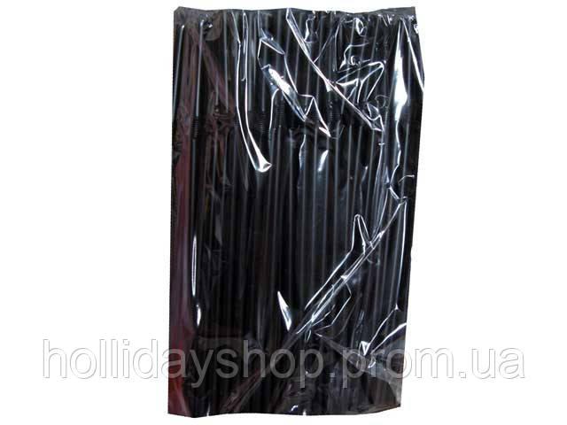 Трубочки для мартини черные d 4,8-12,5 см (200 штук)
