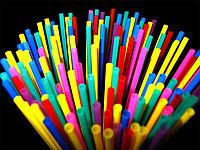 Трубочки для коктейлей цветные без гофры d 4,8-20,5 см (200 штук)