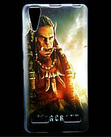 Чехол накладка для Lenovo A6000 силиконовый с рисунком, Warcraft Durotan
