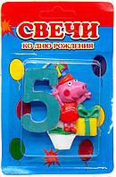 Свеча для торта  Свинка Пеппа - 5