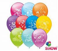 """Воздушные шары Смешарики шелкография микс 12"""" (30 см)  ТМ Show"""