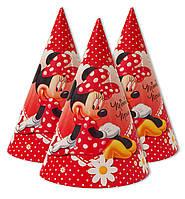 """Колпаки праздничные, маленькие """" Мини Маус в ромашках """".  Карнавальные колпаки"""