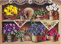 Набор для вышивания лентами Бабушкины цветы НЛ-3043