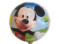 """Шарик фольгированный """" Микки Маус в перчатках """" диаметр 45 см."""