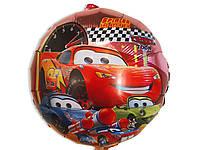 Воздушный фольгированный шар Тачки диаметр 45 см.