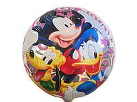 Воздушный фольгированный шарик Микки Дональд и Гуффи  диаметр 45 см.