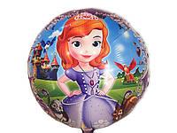 Воздушный шарик из фольги принцесса София  диаметр 45 см.