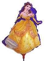 Шарик из фольги на палочке Принцесса Бель 42 х 26 см.