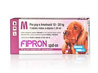 Фипрон спот-он  М - капли от блох и клещей для собак весом 10–20 кг (1пипетка)