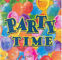 """Салфетки бумажные сервировочные """" Party Time  """""""