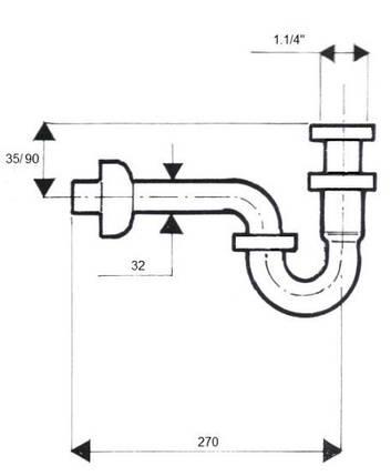Сифон для умивальника без зливу ТМ McAlpine 215 M, фото 2
