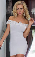 """Женское платье серии SoftLine Collection """"Adeline"""" (белый, чёрный и красный цвета), фото 1"""