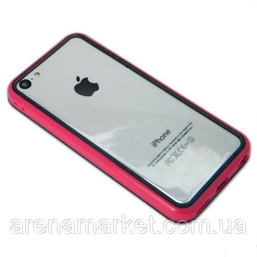Бампер для iPhone 5C - розовый
