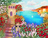 Набор для вышивания лентами Средиземноморский пейзаж НЛ-3046