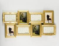 """Коллаж для 8 фотографий """"Классика. Gold"""" 69х36 см"""